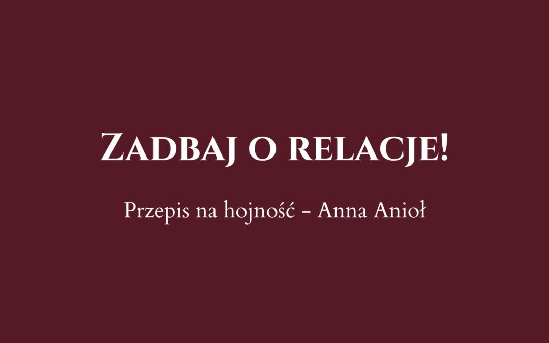 Anna Anioł o relacjach w fundraisingu