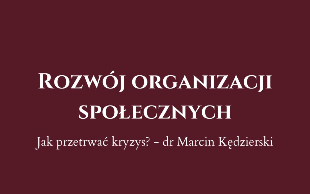 Artykuł dra Marcina Kędzierskiego o rozwoju ngo